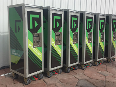 6 SkyCarts for Corporate Event
